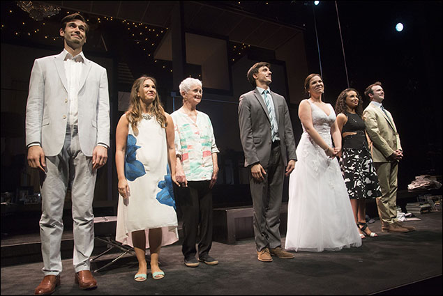 John Behlmann, Sas Goldberg, Barbara Barrie, Gideon Glick, Lindsay Mendez, Carra Patterson and Luke Smith
