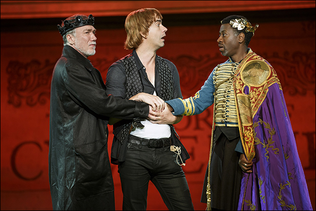 Patrick Page, Hamish Linklater, and Teagle F. Bougere