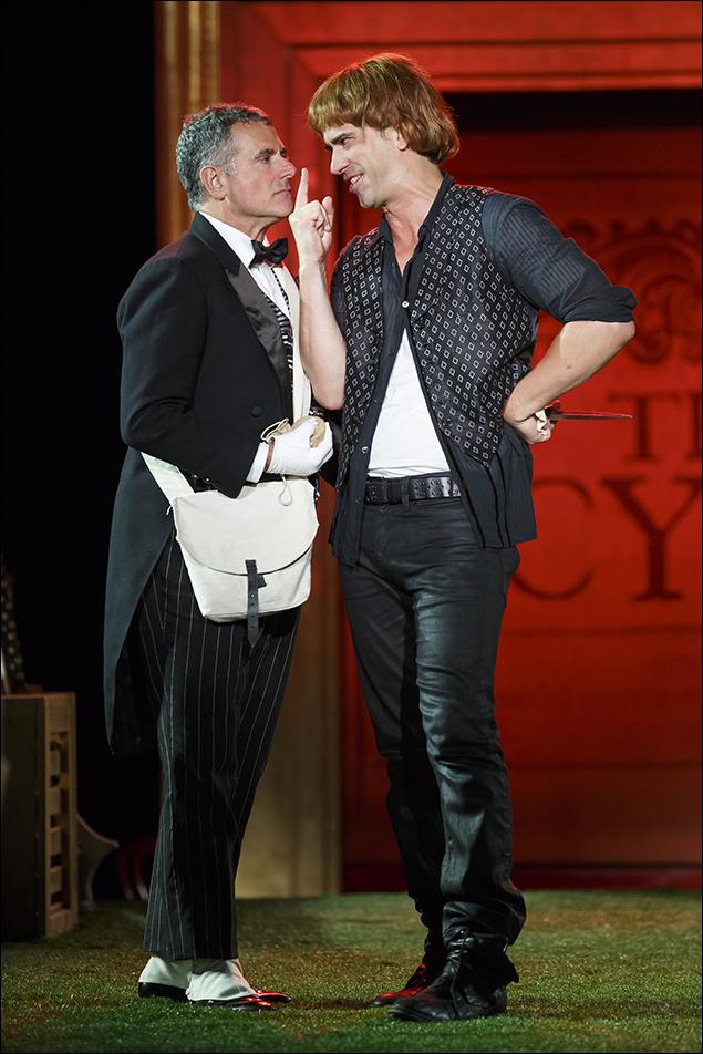 Steven Skybell and Hamish Linklater