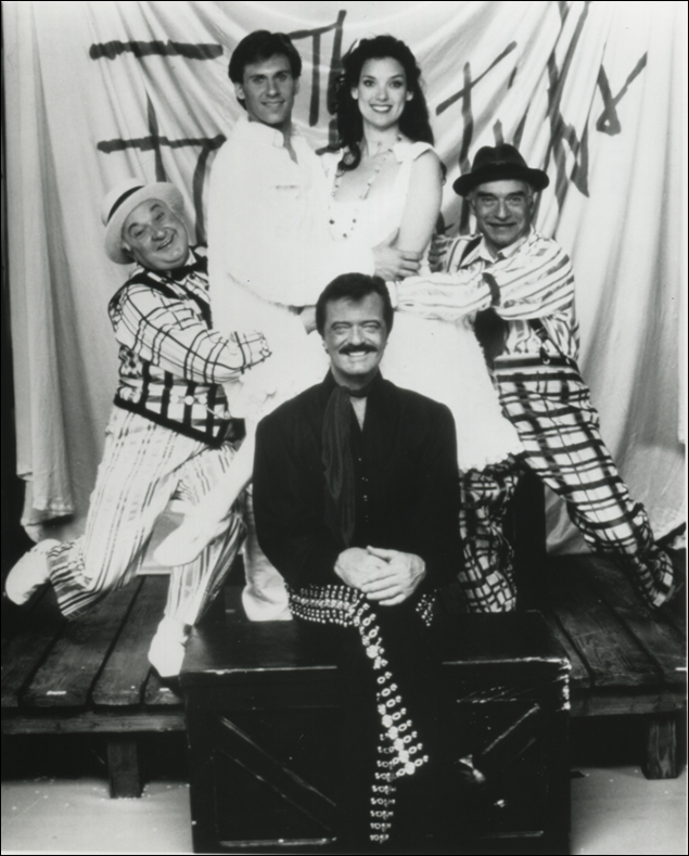 Gerry Vichi, Neil Nash, Glory Crampton, Ralston Hill and Robert Goulet on the 30th Anniversary Tour