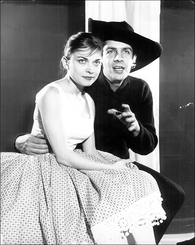 Rita Gardner and Jerry Orbach in 1960