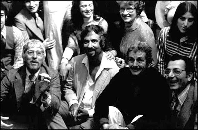Tom Jones, Harvey Schmidt, director Word Baker and producer Lore Noto