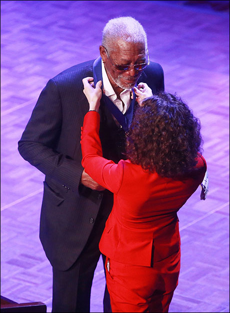 Morgan Freeman and Bebe Neuwirth