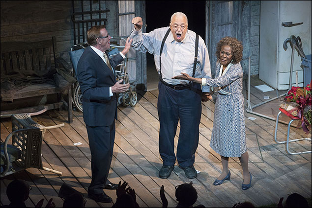 D.L. Coburn, James Earl Jones and Cicely Tyson