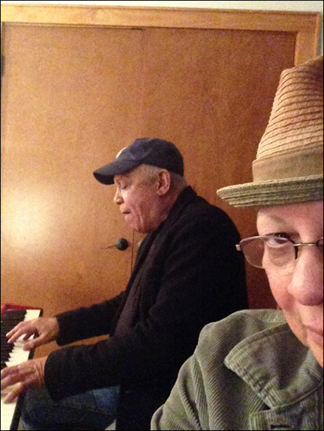 Larry Marshall playing us a song he wrote. It had an unexpected ending. He's so funny.