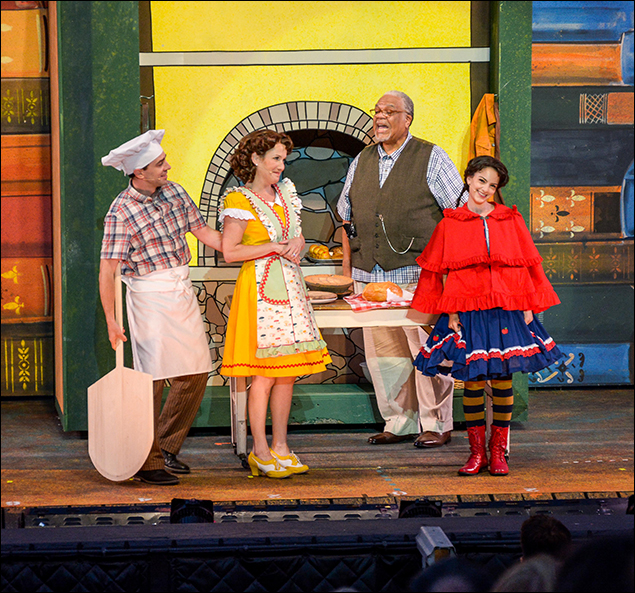 Rob McClure, Erin Dilly, Ken Page and Sara Kapner ath the Muny