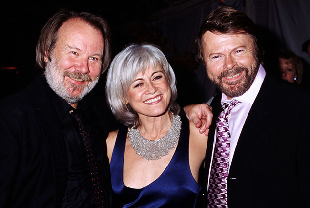 Louise Pitre with Bjorn Ulvaeus and Benny Andersson