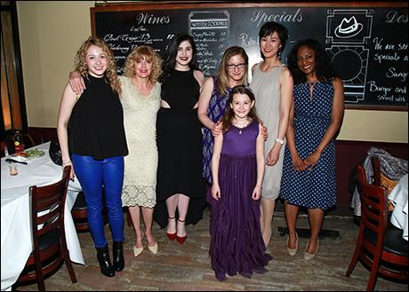 Jill Shackner, Karyn Quackenbush, Carolina Sanchez, Annie McNamara, Kolette Tetlow, Cindy Cheung and April Matthis