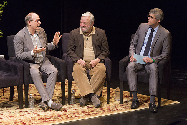 James Lapine, Stephen Sondheim and Mo Rocca