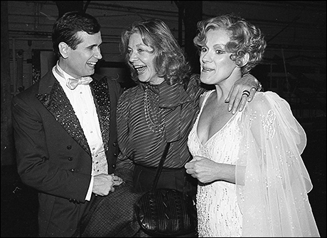Lauren Bacall with Lee Roy Reams and Tammy Grimes at 42nd Street
