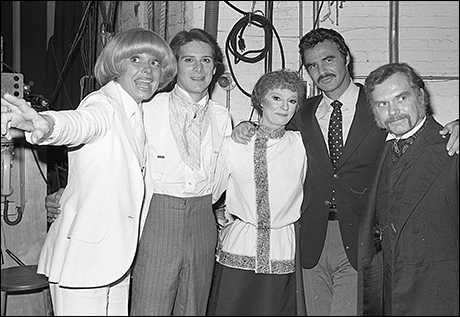 Carol Channing, Philip Anglim, Carole Shelley, Burt Reynolds and Kevin Conway at The Elephant Man