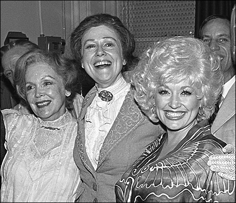 Dolly Parton with Maureen O'Sullivan and Elizabeth Wilson at Mornings at Seven