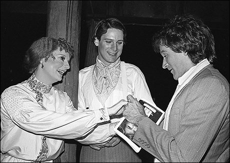 Robin Williams with Carole Shelley and Philip Anglim at The Elephant Man