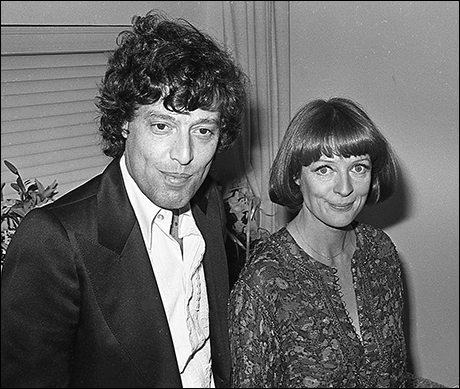 Maggie Smith and playwright Tom Stoppard at Night and Day, 1979