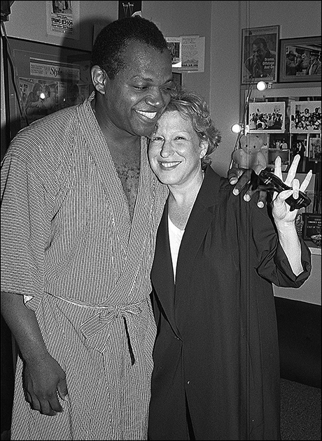 Charles S. Dutton and Bette Midler at The Piano Lesson