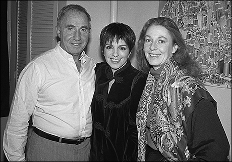 Jane Alexander and Nigel Hawthorne with Liza Minnelli at Shadowlands