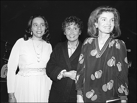 Lena Horne with Jackie Kennedy and Coretta Scott King at Lena Horne: The Lady and Her Music