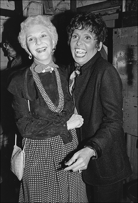 Mary Martin with Lena Horne at Lena Horne: The Lady and Her Music