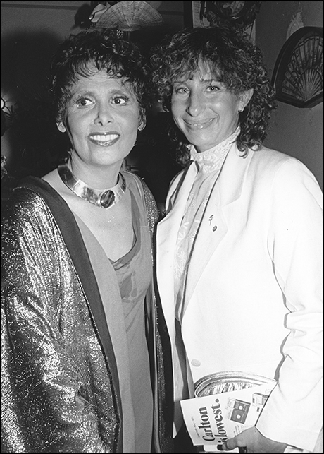 Lena Horne and Barbra Streisand at Lena Horne: The Lady and Her Music