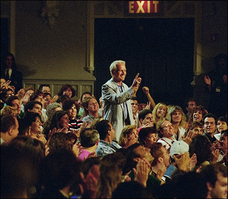 Paul Newman surprises Dave from the audience at the first taping, August 30, 1993