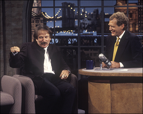 Robin Williams on the second taping, August 31, 1993