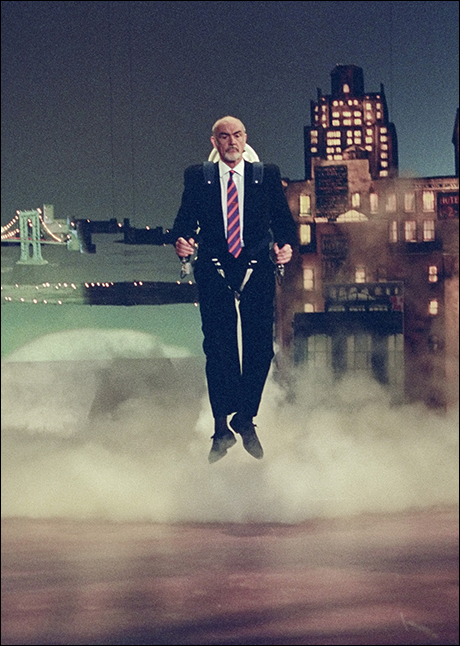 Sean Connery enters the stage via Jet Pack, October 25, 1993