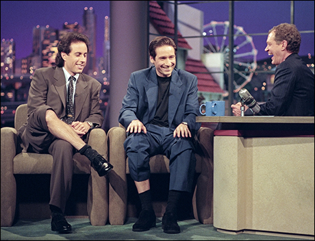 Jerry Seinfeld and David Duchovny, November 10, 1995