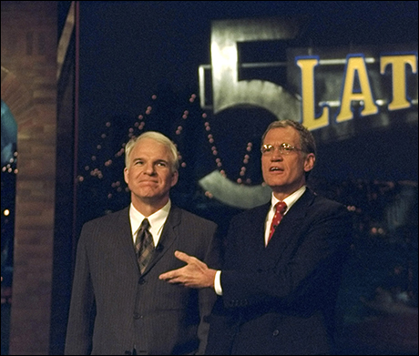 Steve Martin with Dave on the 5th Anniversary, November 23, 1998