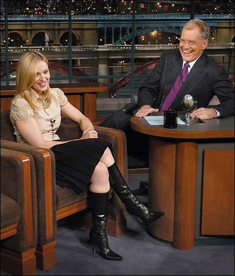Madonna makes her first visit in three years, Nov. 11, 2003