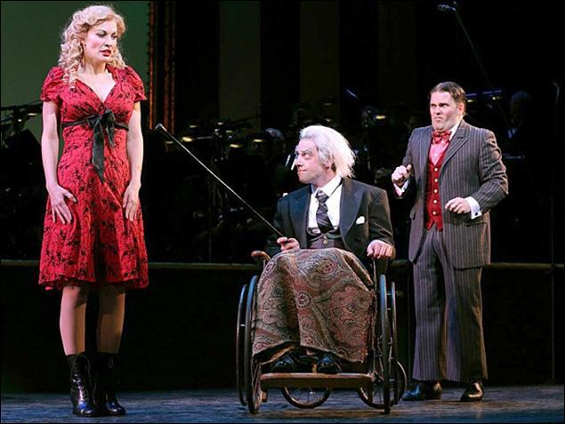 Rachel York, Christian Borle and Robert Creighton in Little Me