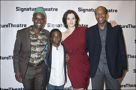Sahr Ngaujah, Caleb McLaughlin, Bianca Amato and Leon Addison Brown