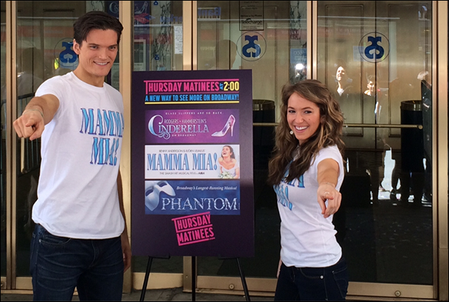 Mamma Mia!'s Sophie and Sky Elena Ricardo and Jon Jorgenson launch Thursday Matinees