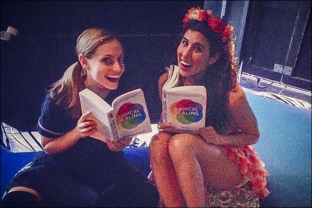 Natalie Bradshaw and Deanna Aguinaga healing and hanging backstage!