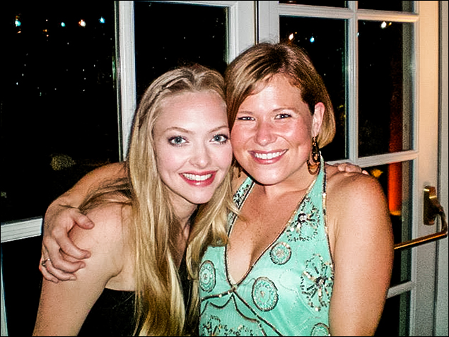 Amanda Seyfried and Carey Anderson at the movie premiere.