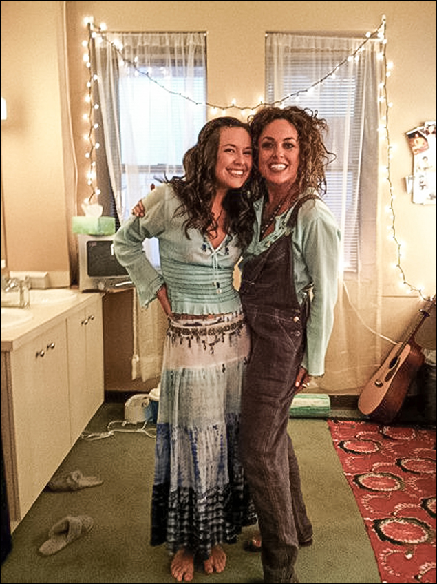 Liana Hunt reunites with her tour Mom, Michelle Dawson.