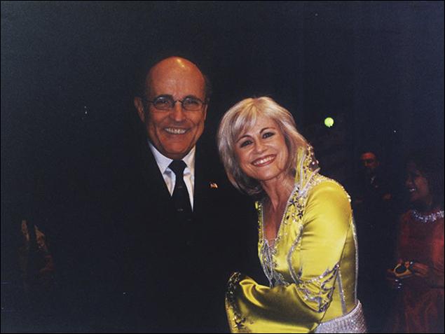 Mayor Giuliani and Louise Pitre