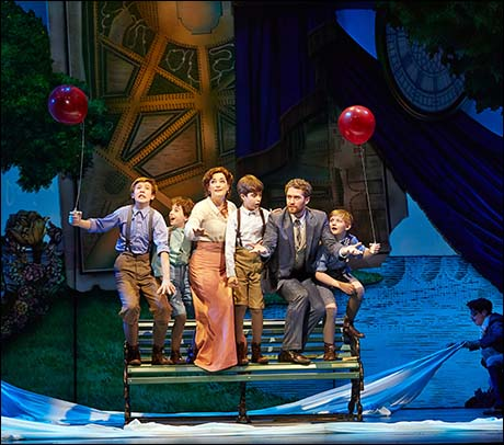 Sawyer Nunes, Alex Dreier, Laura Michelle Kelly, Aidan Gemme, Matthew Morrison and Christopher Paul Richards