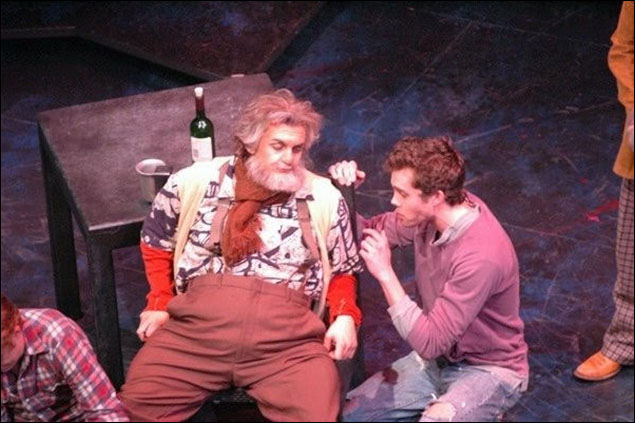 Wesley Taylor: Production of Henry IV. I played Falstaff. Yes that's me on the left with fat suit, prosthetics, wig, etc