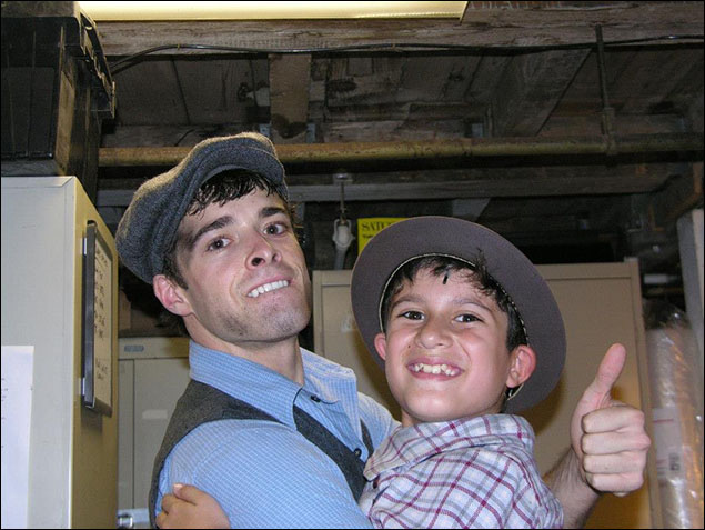 With Corey on my last day of Newsies.  - Lewis Grosso