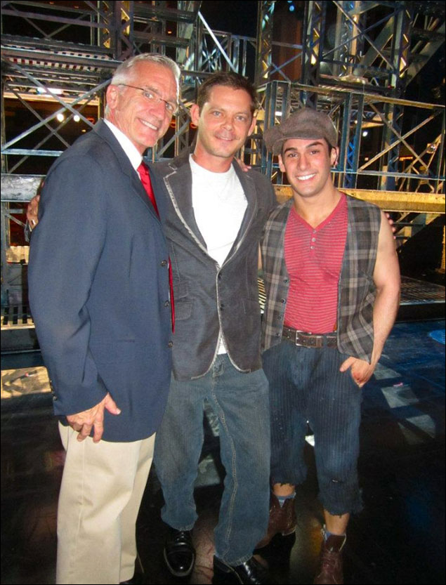 Gabriel Damon (the original Spot Conlon), Mark Hoebee and I from the Newsies fan day at Paper Mill. Coolest most surreal experience ever!!!- Tommy Bracco