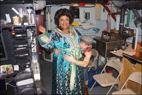 Nico kissing Medda's baby bump before she goes onstage!- Lavon Fisher-Wilson