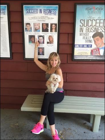 Had to show Pearl the posters in front of the theatre.