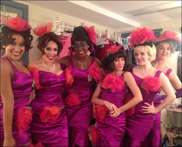 """In our """"Paris Original"""" dresses! (Alicia Charles, Catherine LeFrere, Courtney Daniels, Libby Servais, Marjorie Failoni, Marcy McGuigan)"""