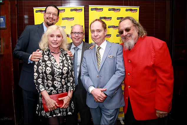 Penn Jillette, Debbie Harry, Mike Jones, Teller and Larry Ratso Sloman