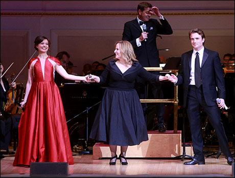 Margo Seibert, Zina Goldrich and James Snyder
