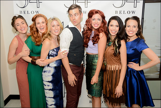 Wicked cast and alum, Alison Luff, Teal Wicks, Caissie Levy, Matt Shingledecker, Desi Oakley, Arielle Jacobs and Kara Lindsay