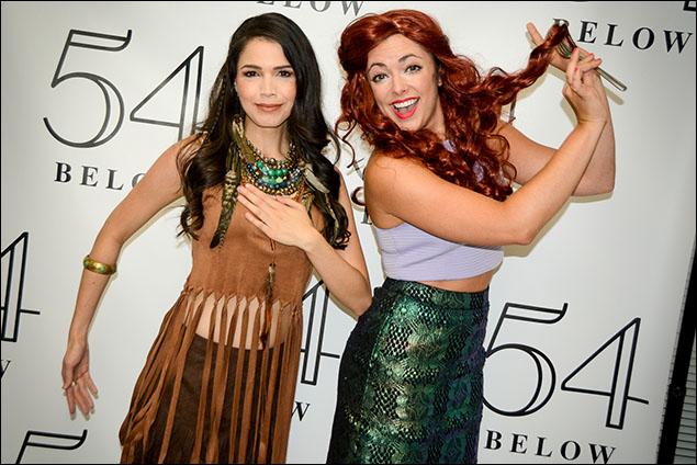 Arielle Jacobs as 'Pocahontas' and Desi Oakley as 'Ariel'