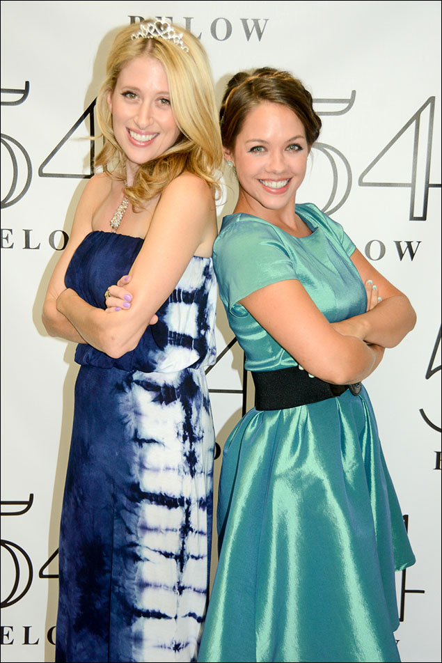 Caissie Levy as 'Queen Elsa' and Laurie Veldheer as 'Princess Anna'
