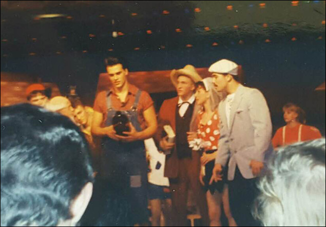Cheyenne Jackson:  Performing in Li'l Abner at age 16.