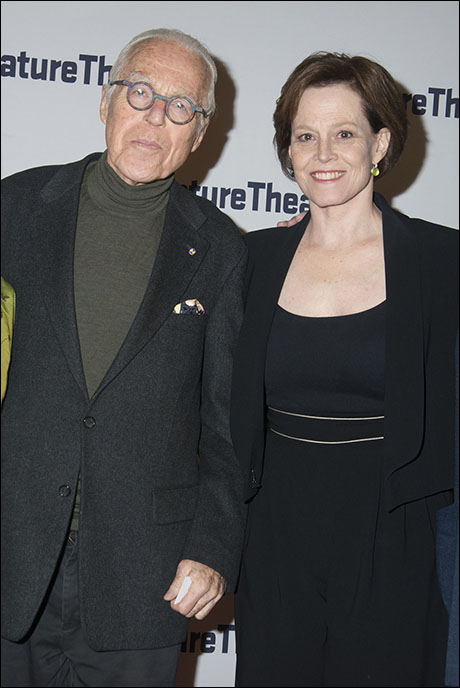 John Guare and Sigourney Weaver